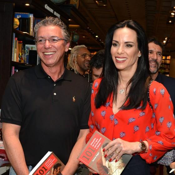 O diretor Boninho e a mulher, a atriz e apresentadora Ana Furtado (Foto: Cristina Granato)