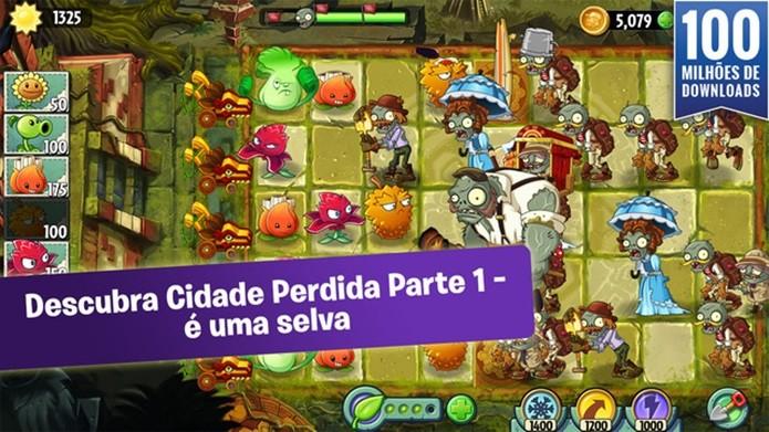 Plants vs Zombies 2 ganha atualização na Selva (Foto: Divulgação)
