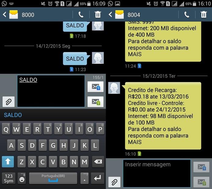 Para consultar o saldo na Vivo basta enviar um SMS  (Foto: Reprodução)