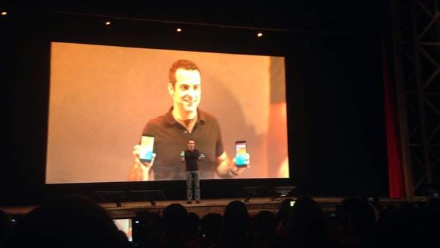 Hugo Barra na apresentação que marca a chegada da Xiaomi no Brasil  (Foto: Nayara Fraga)