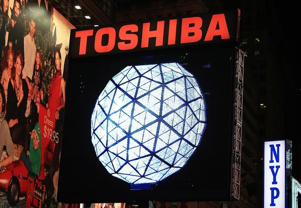 Logo da Toshiba na Times Square (Foto: Neilson Barnard/Getty Images)