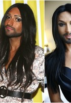 Clone brasileiro de Conchita Wurst faz sucesso na SPFW. Compare fotos!