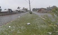 RS registra neve na primavera pela primeira vez em 12 anos, diz Inmet (Elton Policastro/Prefeitura de Bom Jesus)