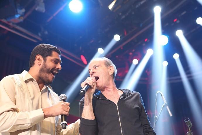 Criolo e Ney Matogrosso  levantaram a plateia  (Foto: Carol Caminha/Gshow)