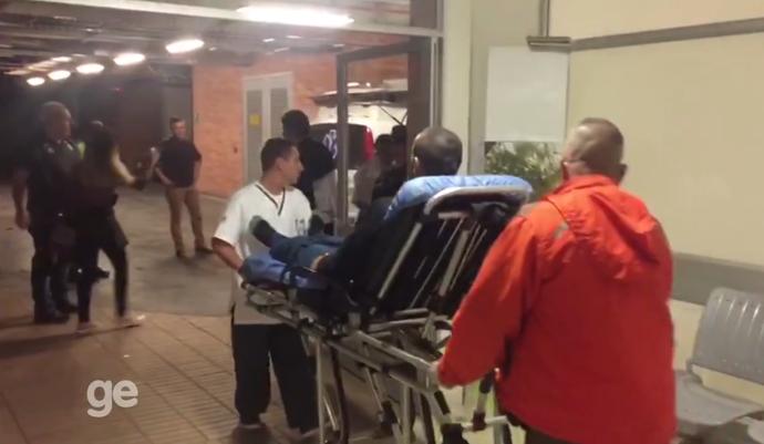 Alan Ruschel deixa hospital (Foto: Reprodução/Hospital San Vicente)