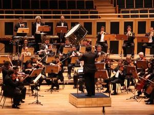 Orquestra Sinfônica do Teatro Nacional Claudio Santoro durante apresentação (Foto: Alan Moreira/ Agência Brasília)
