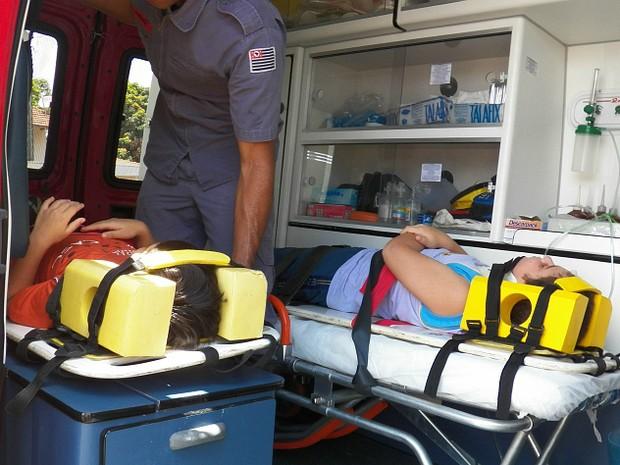 Crianças foram levadas para a Santa Casa de São Carlos com ferimentos leves (Foto: Valdir Penteado/Arquivo Pessoal)