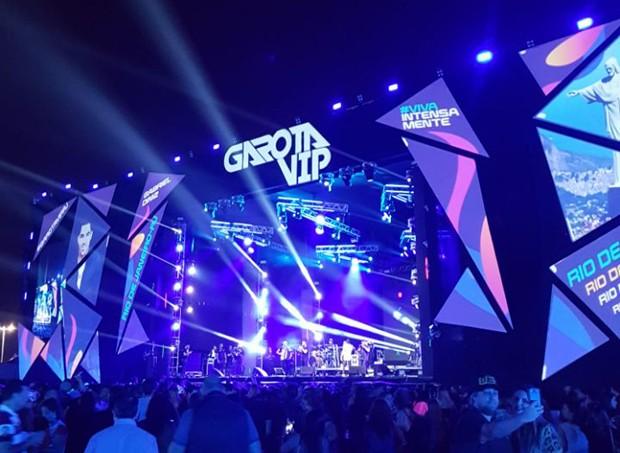 O Garota VIP conta com uma megaestrutura de palco e iluminação (Foto: Rafael Godinho/Quem)