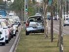 Acidentes deixam o trânsito lento na Fernando Ferrari, em Vitória