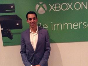 Yusuf Mehdi, vice-presidente de entretenimento interativo da Microsoft, falou ao G1 (Foto: Gustavo Petró/G1)