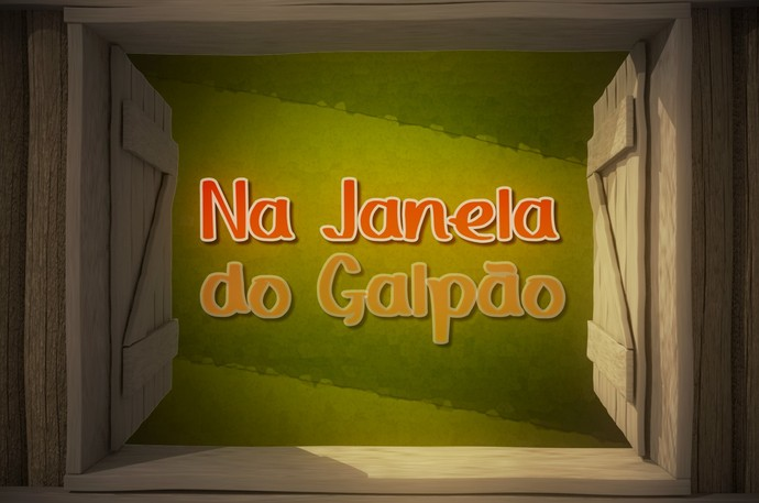 Na Janela do Galpão logo Galpão Crioulo (Foto: Reprodução/RBS TV)