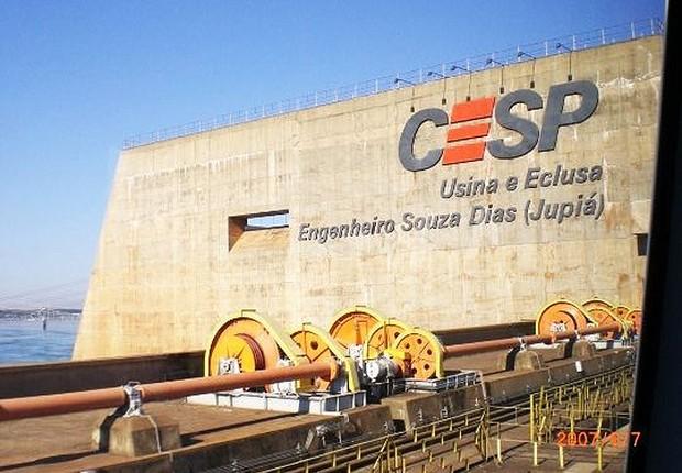 Usina hidrelétrica da CESP (Foto: Reprodução/YouTube)