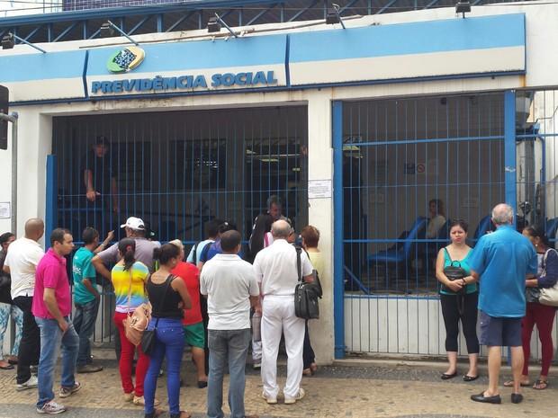 Agência do INSS na Rua Regente Feijó em Campinas (Foto: Fernando Pacífico / G1)