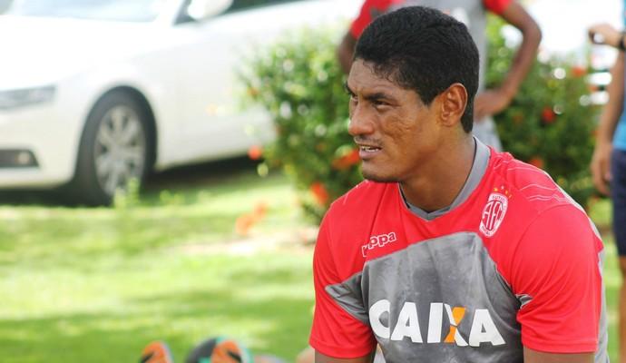 Max, atacante do Améica-RN (Foto: Canindé Pereira/Divulgação)