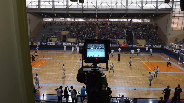 Bastidores Copa dos Campeões TV TEM futsal (Foto: Beto Fernandes)