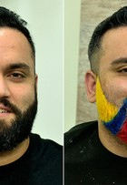 Barba colorida: repórter do EGO adere à nova mania e radicaliza o visual