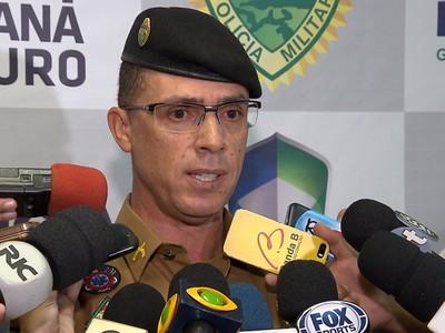 Wagner Lucio dos Santos comandante da polícia militar paraná  (Foto: Reprodução/RPC)
