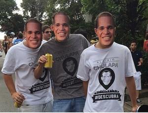 Seguidores de Chulapa com máscara e camisa (Foto: Reprodução Instagran)