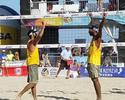 Pedro e Evandro são campeões da etapa de Long Beach de vôlei de praia