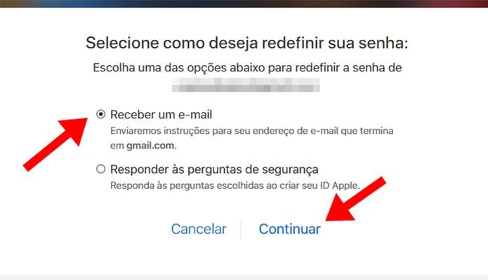 Redefina a senha por meio de e-mail  (Foto: Reprodução/Paulo Alves)