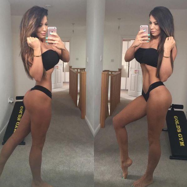 Jacqui faz selfie para postagem em rede social