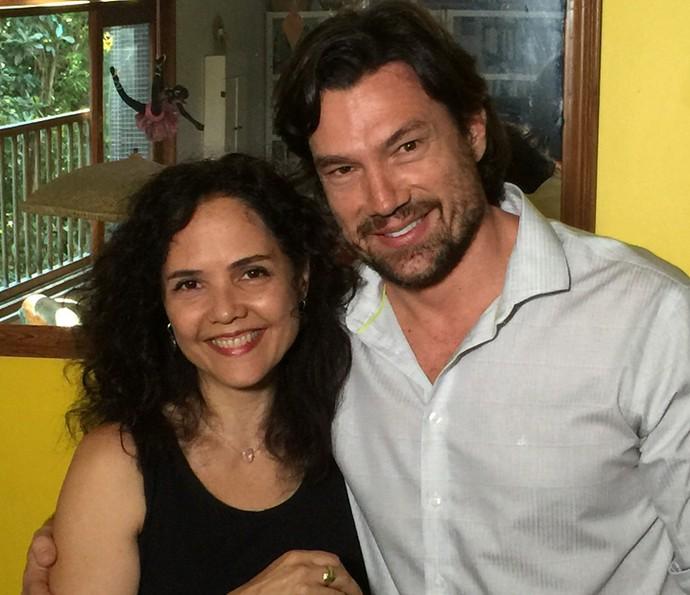 Tereza Seiblitz e Ricardo Macchi se reencontraram após 20 anos (Foto: Vídeo Show / Gshow)