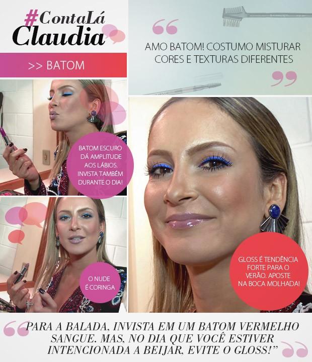 #ContaLáClaudia - Batom (Foto: Gshow)