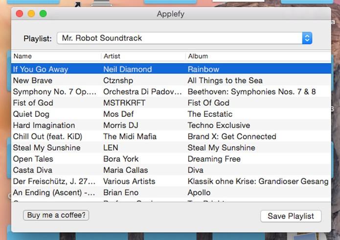 Escolha a playlist que será exportada (Foto: Reprodução/André Sugai)
