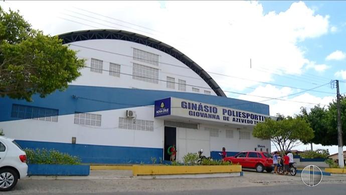 Ginásio Geovanna de Azevedo (Foto: Reprodução/ Inter TV Cabugi)