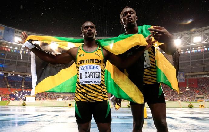 Nesta Carter atletismo Jamaica Usain Bolt (Foto: Getty Images)