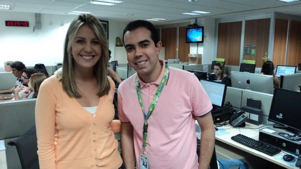 Bárbara Coelho e Antero Neto, Tá na Área (Foto: Paola Loewe/SporTV.com)
