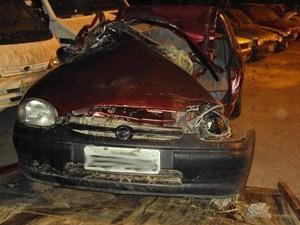 Acidente em Criciúma ocasionou na morte de jovem de 18 anos (Foto: Samuel Madeira/Sul in Foco)