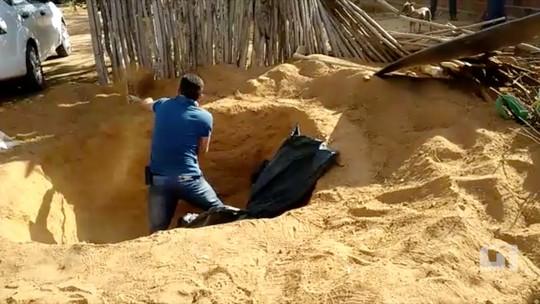 Droga apreendida em Upanema, RN, estava enterrada em quintal; veja vídeo