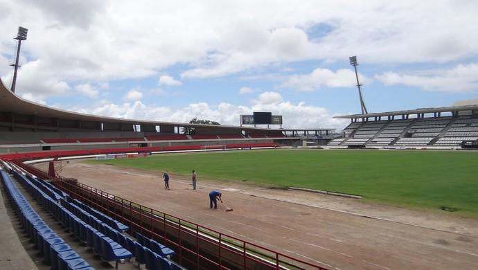 Estádio Rei Pelé, Maceió (Foto: Leonardo Freire/GLOBOESPORTE.COM)
