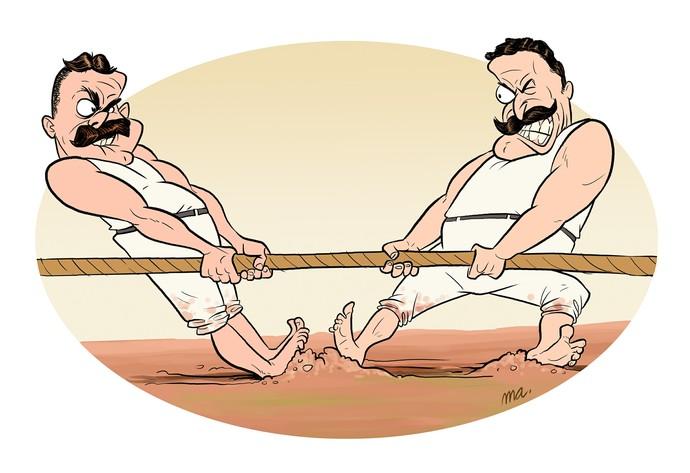 Modalidades bizarras esportes cabo de guerra (Foto: Mario Alberto/GloboEsporte.com)