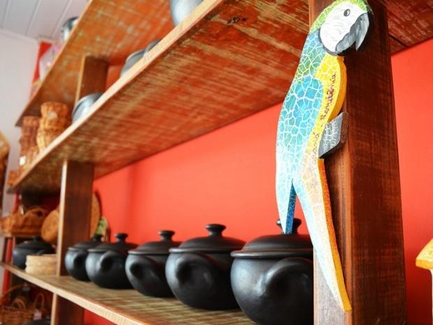 Artesanato Tecido ~ G1 Artes u00e3os tiram matéria prima de rios para criar objetos, em Ji Paraná, RO notícias em