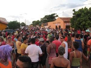 Bloco reuniu mais de 10 mil em carnaval no interior do Piauí (Foto: Gil Oliveira)