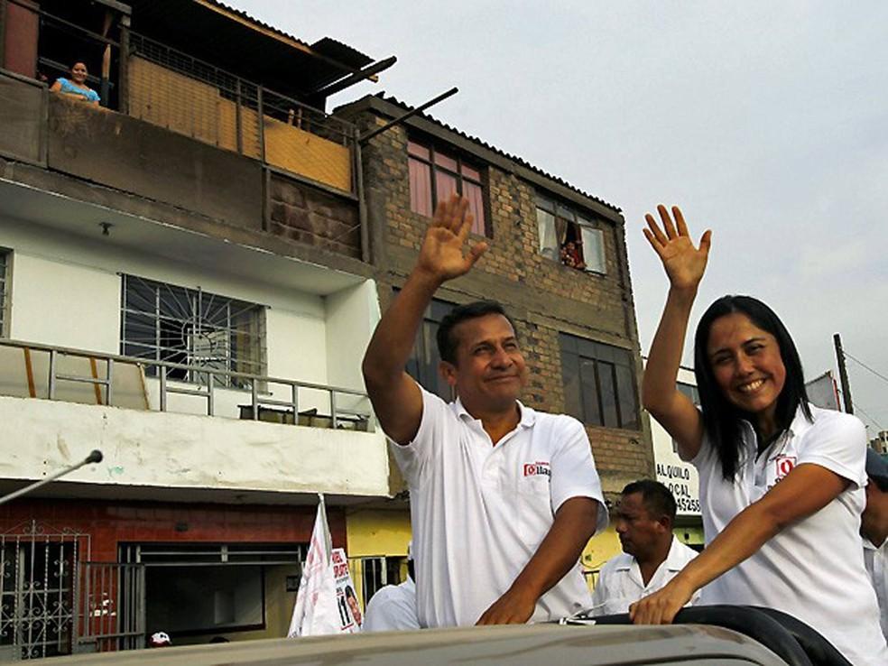 O ex-presidente do Peru, Ollanta Humala, e sua mulher, Nadine Heredia (Foto: Reuters)