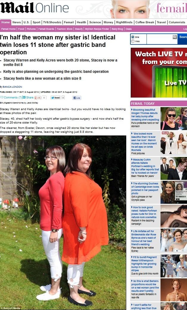 Gêmeas (Foto: Daily Mail/Reprodução)