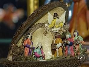 Jovem de Itapetininga possui até peças feitas com palha de milho (Foto: Reprodução/ TV TEM)