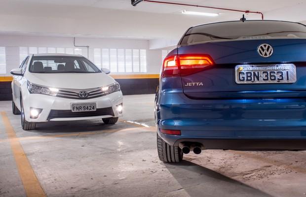 Comparativo: Volkswagen Jetta X Toyota Corolla (Foto: GUstavo Maffei/Autoesporte)