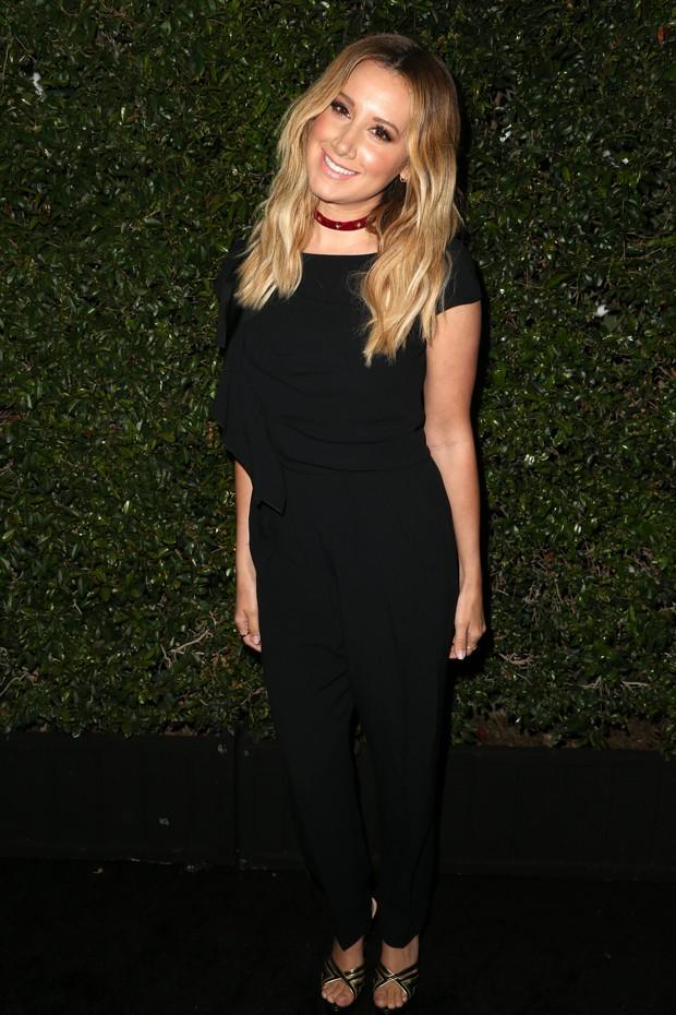Ashley Tisdale em evento em Los Angeles, nos Estados Unidos (Foto: Frederick M. Brown/ Getty Images/ AFP)