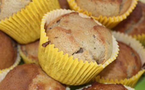 Cupcake de banana com aveia