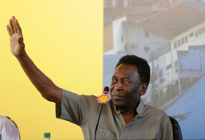 Pelé no morro da mineira (Foto: Andre Durão )