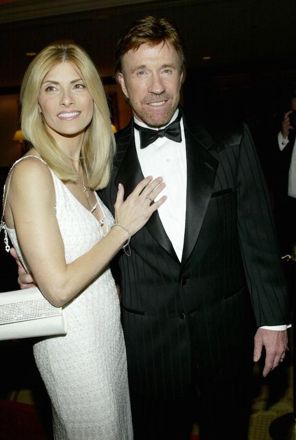 O ator Chuck Norris com a esposa, Gena (Foto: Getty Images)