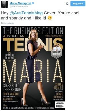 Maria Sharapova, férias forçadas (Foto: Reprodução / Twitter)
