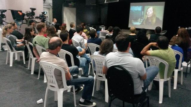 Profissionais conferiram dicas da editora chefe do Globo Repórter  (Foto: RBS TV/Divulgação)