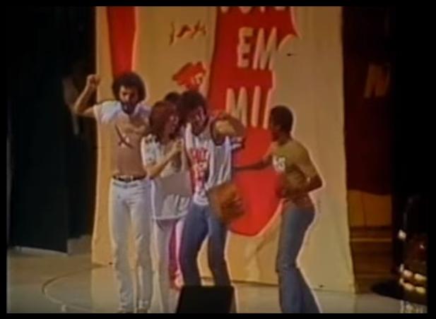 Sócrates, Rita Lee, Casagrande e Vladimir (Foto: Reprodução/Youtube)
