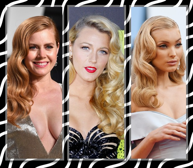 Amy Adams, Blake Lively e Elsa Hosk com o cabelo vintage (Foto: Getty Images)