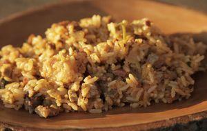 Receita de risoto Maria Isabel com carne de sol e queijo de cabra